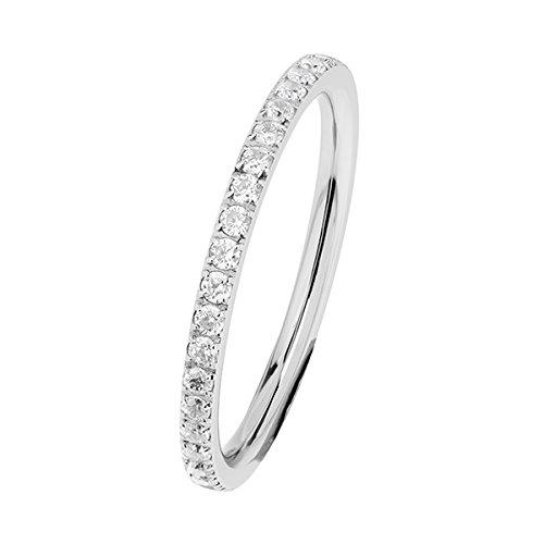 Ernstes Design Evia Ring, Vorsteckring, Beisteckring, Ring mit Zirkonia rundherum R453.WH (54 (17.2))