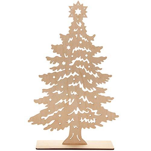 Spruchreif PREMIUM QUALITÄT 100% EMOTIONAL · Deko Tannenbaum aus Holz · Holz Tannenbaum zum Hinstellen · Tischdeko · Holzdeko · Dekofigur · Weihnachtsbaum Weihnachtsdeko · Holz Deko Weihnachten