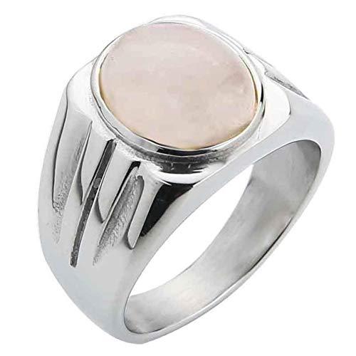 Valily Sieraden Herenring Eenvoudig ontwerp Ovale tijgeroogring voor dames Roestvrij staal Mode Vingerband Goudkleurige ringen Mannelijk