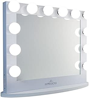 Impressions Vanity Hollywood Iconic XL Plus White Vanity Mirror