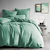 MATT & Rose - Parure da letto in tessuto di lino e cotone, 260 x 240 cm