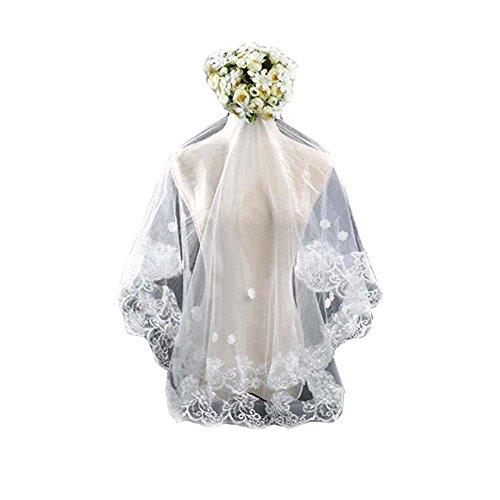 Voile de mariage blanc Voiles de tulle de mariée Elegant Women Veil # 4