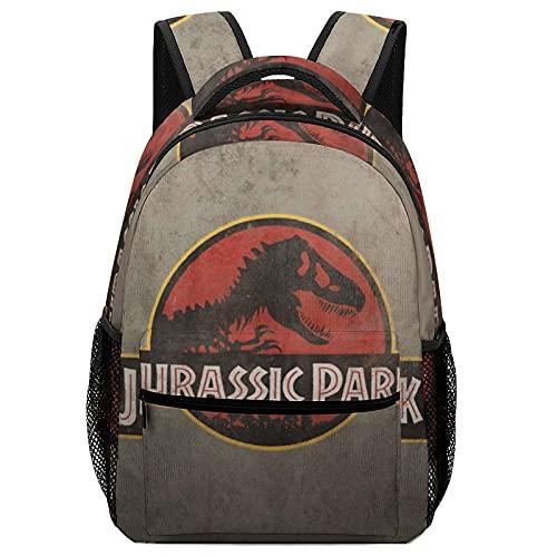 Jurassic Park - Mochilas para niños de alta capacidad para estudiantes de primaria y secundaria, ultraligeras y con múltiples compartimentos