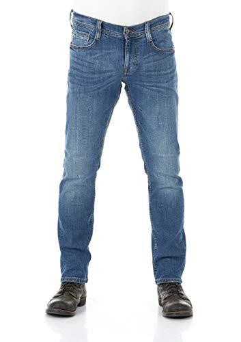 MUSTANG Herren Jeans Oregon Tapered Fit Stretch Denim Hose 99% Baumwolle Blau Grau Schwarz W30 - W40, Größe:W 38 L 32, Farbvariante:Medium Blue Denim (313)