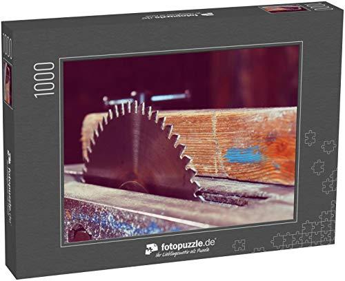 fotopuzzle.de Puzzle 1000 Teile Maschine der Kreissäge. Tischler und Schreiner Werkzeugmaschine in der Werkstatt