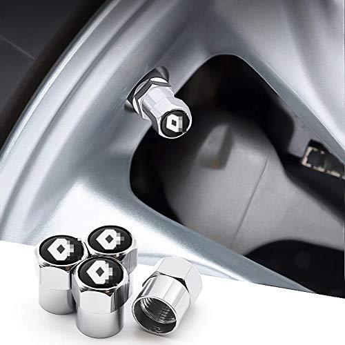 LOPLP Aluminiumlegierung Auto Rad Reifen Ventil Vorbau Kappen Abdeckung Reifen Staubkappe für Renault Espace Twingo ZOE Megane Talisman Clio Captur K, Ventil Luftkappen Gehäuse, 4 STK
