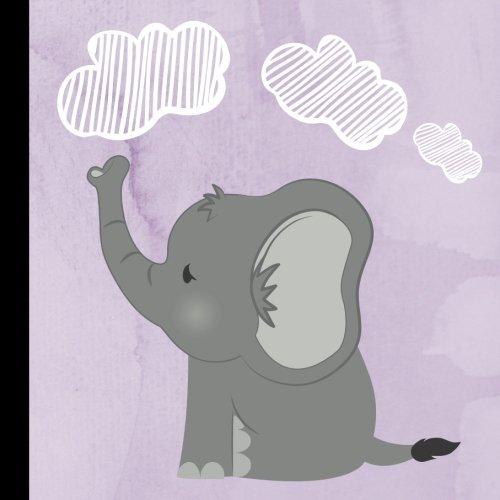 Lavender Elephant Baby Shower Guest Book: Beautiful Lavender Elephant Baby Shower Guest Book + Bonus Gift Tracker + Bonus Baby Shower Printable Games ... Elephant Baby Shower Games) (Volume 1)