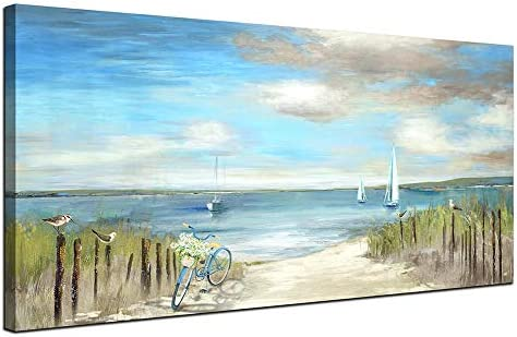 Large Beach Themed Wall Art Painting Canvas Artwork Decor for Bedroom Living Room Home Office product image