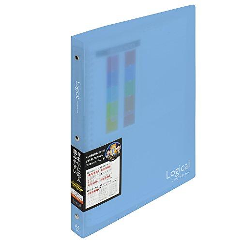ナカバヤシ ロジカルバインダーノート ワイド A4 ブルー BN-A402A-B