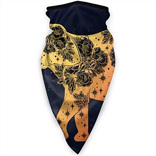 yyndw Neck Warmer Beautiful Indian Elephant With Wild Rose Flowers And Star Ornaments Outdoor Motorcycling Seamless Balaclava Head Scarf Windproof Sports Ski Bandanas Face Skiing Neck G