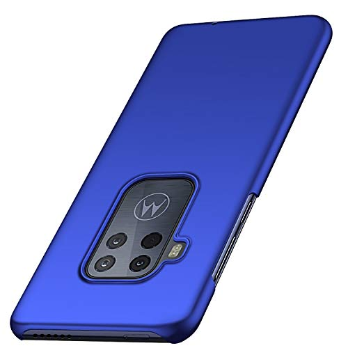Anccer Colorful Series for Motorola Moto One Zoom Case, Moto One Pro Case Ultra Thin Fit Premium PC Material Slim Cover for Moto One Zoom/One Pro (Blue)