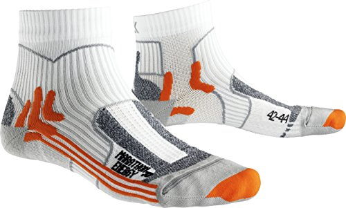 X-Socks Herren Strumpf MARATHON ENERGY, White/Orange, 39/41, X100094