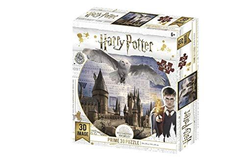 Prime 3D- Redstring-Puzzle Harry Potter Hogwarts & Hedwig 500 Pezzi (Efetto 3D), 5111513
