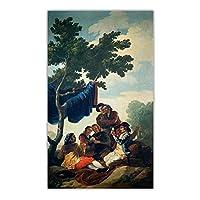 Hbdjns フランシスコゴヤキャンバスウォールアートポスター油絵プリント額縁リビングルーム家の装飾-60X90Cmx1フレームなし