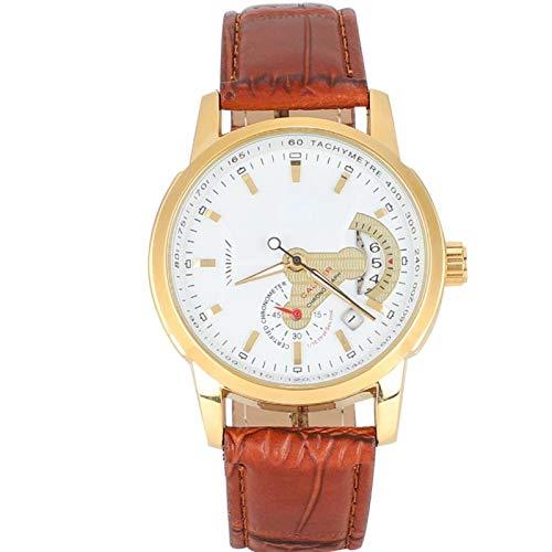 Reloj de pulsera para hombre, reloj de pulsera, reloj mecánico automático para hombre, calendario impermeable, correa de piel sintética, reloj de pulsera para hombre, para ocasiones de negocios/ocasió