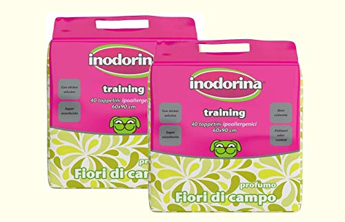 megazoo Tappetini inodorina Training Fiori 2 Confezioni 40pz da 60x90