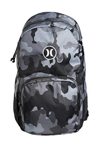 Hurley Herren U Bloke Printed Backpack Rucksack, Camo Green, 1SIZE
