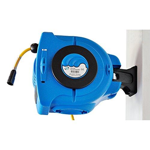 Druckluft Industrie Schlauchaufroller Schlauchtrommel 12 bar mit 180° Wandhalter 20m von RP-TOOLS