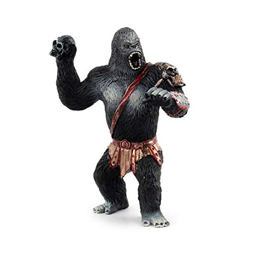 1pc regalo realistica King Kong Toys Simulation Chimpanzee modello solido nero Orangutan figura della decorazione della casa di King Kong giocattoli per i bambini Toy vacanze