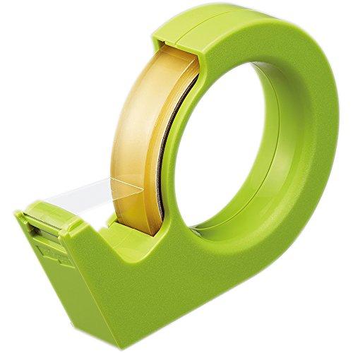 コクヨ テープカッター カルカット ハンディ 大巻 緑 T-SM200G 本体サイズ:W27XD142XH103mm/103g