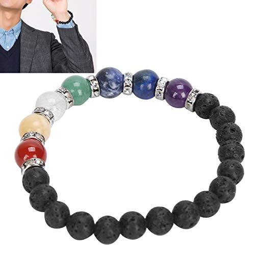 Pulseras de chakra, piedra de jade natural para mantener el equilibrio energético Pulseras de energía para hombres para curar para obtener energía para proteger