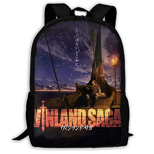 AOOEDM Vinland Saga Laptop Backpack Durable Laptops Backpack,Water Resistant College School Computer Bag Gifts for Men and Women Fits 15 Inch Notebook