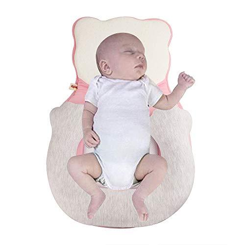KIKILIVE Baby Lagerungskissen,Babyschlafhilfe Tragbare Babyschlafsack Babyliege Kinderbett Stubenwagen Matratze Babykissen