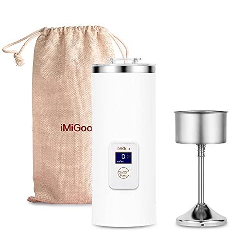Portable Electric Coffee Maker Single Serve 8 Ounces (AC 110-120 Volts, white)