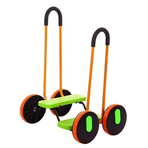 YAMAXUN Equilibrio Scooter para Niños, Juguete para Montar Coche con Asa, Moverse Y Derrapar con Pierna Derecha-Izquierda, Kart Pedales para Niños Pequeños, Niños Y Niñas 5 Años O Más,Verde