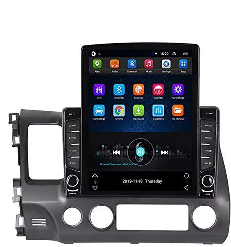XXRUG Autoradio Für Honda Civic 2006-2011 Android 9.1 Multimedia-Radio Unterstützt Bluetooth/Rückfahrkamera/Carplay/DSP/SWC/Multi Languages