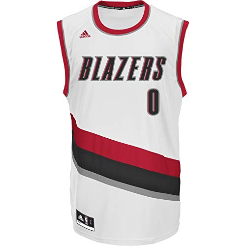 adidas INT Replica JRSY Camiseta de Manga Corta de Baloncesto, Hombre, Multicolor (NBA Portland Trail Blazers 7 3Tf), 2XS