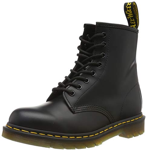 Dr. Martens 1460 Smooth, Stivali Unisex – Adulto, Nero, 36