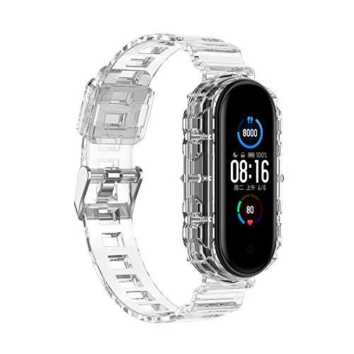 Tiggo Correa para XiaoMi Band 4/XiaoMi Band 3,Correas Reloj,Bandas Correa Repuesto Loop,Transparente Silicona Reloj Recambio Brazalete Correa para XiaoMi Band 4/XiaoMi Band 3 (blanco)