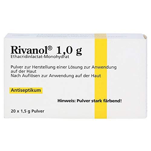 Rivanol 1,0 g Pulver Antiseptikum, 20 St. Beutel