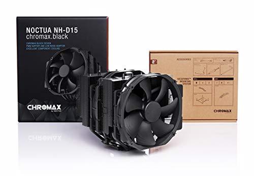 Noctua NH-D15 chromax.black, Disipador de CPU de Doble Torre (140 mm, Negro) 4