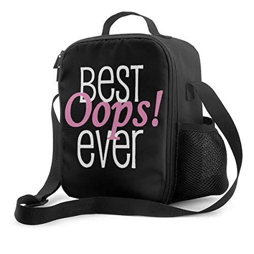 Insulated Lunch Bag Best Oops Ever Portable Thermal Insulation Tote Box With Adjustable Shoulder Strap Zipper Reusable Lunchbox For Ladies Woman Man School Work Picnic
