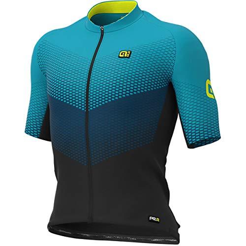 Abbigliamento Ciclismo Uomo Maglia Ale Delta Graphics Prr Rod MTB (2XL, Nero-Petrolio)