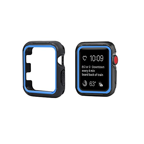 top4cus 40mm Iwatch Case Soft Flexible TPU Anti-Scratch Lightweight Protective Bumper Compatible with Apple Watch Series 6 Series SE Series 5 Series 4 Sport Style (40mm, Blue)