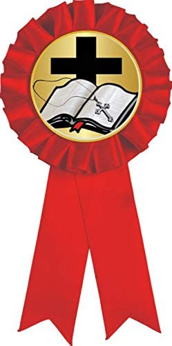 Religious Prizes Red Open Bible Ribbon Free shipping anywhere in the nation Ranking TOP9 Award Prize 100 Pack