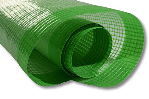 1 Jumborolle 2 x 50 m = 100m² Gitterfolie Gewächshausfolie Folie für Gewächshaus Gartenfolie Gartengitterfolie UV-Folie uv beständige Folie 3 Jahre UV beständig grün transparent/durchsichtig