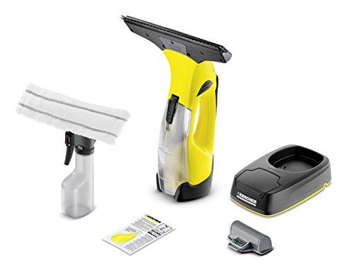 Kärcher Akku-Fenstersauger WV 5 Plus Non Stop Cleaning Kit (Entnehmbarer Akku, Ersatzakku, Ladestation, Sprühflasche mit Mikrofaserbezug, wechselbare Saugdüse, Fensterreiniger-Konzentrat 20 ml)