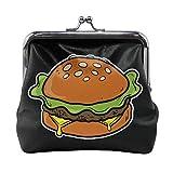 TYDhey Cheese Burger Monederos con Hebilla clásica Carteras de Cuero con Cierre de Beso