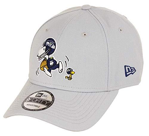 New Era - NFL Seattle Seahawks Peanuts 9Forty Strapback Cap - Grau Größe One Size, Farbe Grau