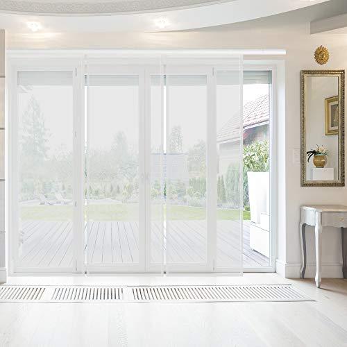 Bestlivings Flächenvorhang Elena 3er Pack (B x H) 60 x 260 cm Weiß, transparenter einfarbiger Schiebevorhang, in vielen Farben
