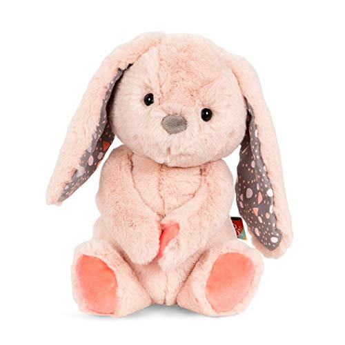 B. toys by Battat Happy Hues-Butterscotch Bunny Soft & Cuddly Plush Bunny-Huggable Stuffed Animal Rabbit Toy-Washable- Babies, Toddlers, Kids, Multi, 12 inches