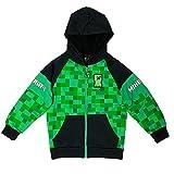Minecraft Creeper Big Boys Sherpa Fleece Hoodie (8, Green)