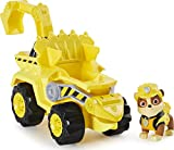 PAW Patrol Dino Rescue Rubble's Deluxe Rev Up Vehicle with Mystery Dinosaur Figure