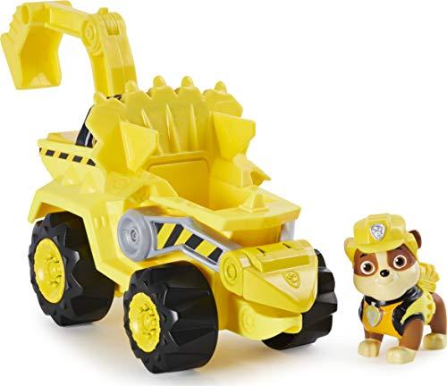 PAW Patrol, veicolo a carica Dino Rescue Rubble con dinosauro misterioso