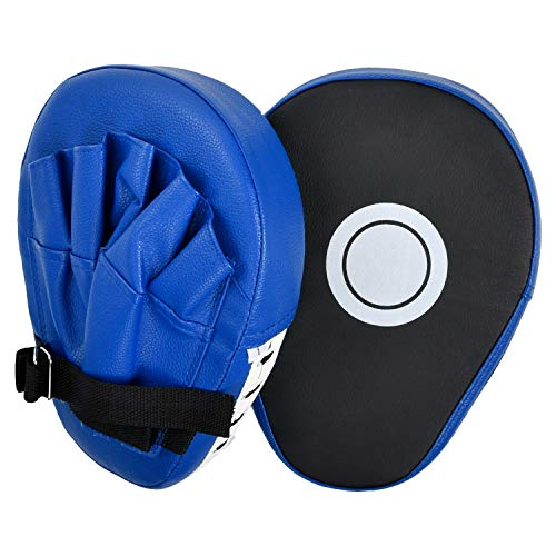 2PCS MMA Boxing Mitts Punching Mitts Kickboxing Muay Thai Pads PU Leather Focus Pads Martial Arts for Youth, Men & Women Gift