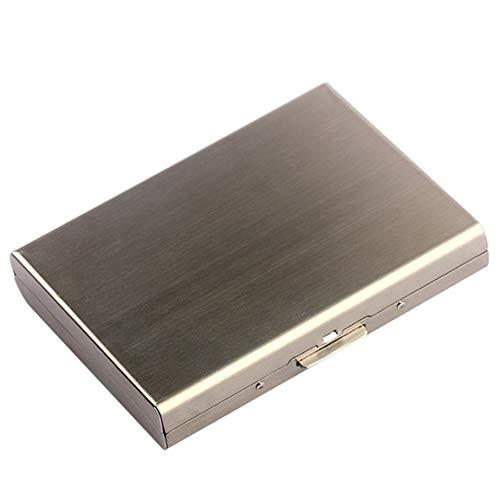 VXYUSF Caja de Tarjeta Multifuncional Anti-RFID/NFC de Acero Inoxidable, Caja de Tarjeta de Metal para Licencia de Conducir, Caja de Cigarrillos para Hombres